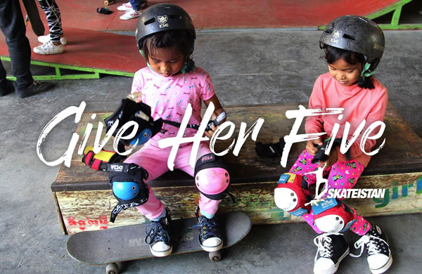 "Skateistan launch ""Give Her Five"""